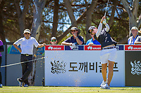 Carlotta Ciganda (ESP) during the third round of the ISPS Handa Women&rsquo;s Australian Open, The Grange Golf Club, Adelaide SA 5022, Australia, on Saturday 16th February 2019.<br /> <br /> Picture: Golffile | David Brand<br /> <br /> <br /> All photo usage must carry mandatory copyright credit (&copy; Golffile | David Brand)