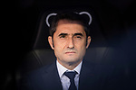 Coach Luis Ernesto Valverde Tejedor of FC Barcelona prior to the La Liga 2017-18 match between Real Madrid and FC Barcelona at Santiago Bernabeu Stadium on December 23 2017 in Madrid, Spain. Photo by Diego Gonzalez / Power Sport Images
