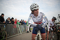 Hannah Payton (GBR) post-race<br /> <br /> Koksijde CX World Cup 2014