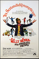 BNPS.co.uk (01202 558833)<br /> Pic: CatherineSouthon/BNPS<br /> <br /> Poster for the 1971 movie starring Gene Wilder.<br /> <br /> One of the five golden tickets used in the film Willy Wonka & The Chocolate Factory has sold for just over £16,000.<br /> <br /> The shiny slip of foil paper was the one English brat Veruca Salt 'found' after her wealthy father got his factory work-force to open thousands of Wonka chocolate bars.<br /> <br /> After filming had finished actress Julie Dawn Cole, who played selfish Veruca in the 1971 movie, kept hold of the 5ins by 7ins golden ticket.<br />  <br /> Julie later gifted it and a fake Wonka chocolate bar to her friend Lindy Sellers.