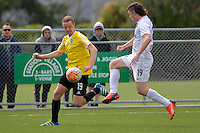 Phoenix&rsquo; Thomas Drillien and Team Wellington&rsquo;s Cameron Wardlaw in action during the National Youth League - Phoenix Youth v Team Wellington Youth at Petone Memorial Park, Lower Hutt, New Zealand on Saturday 29 October 2016.<br /> Photo by Masanori Udagawa. <br /> www.photowellington.photoshelter.com.