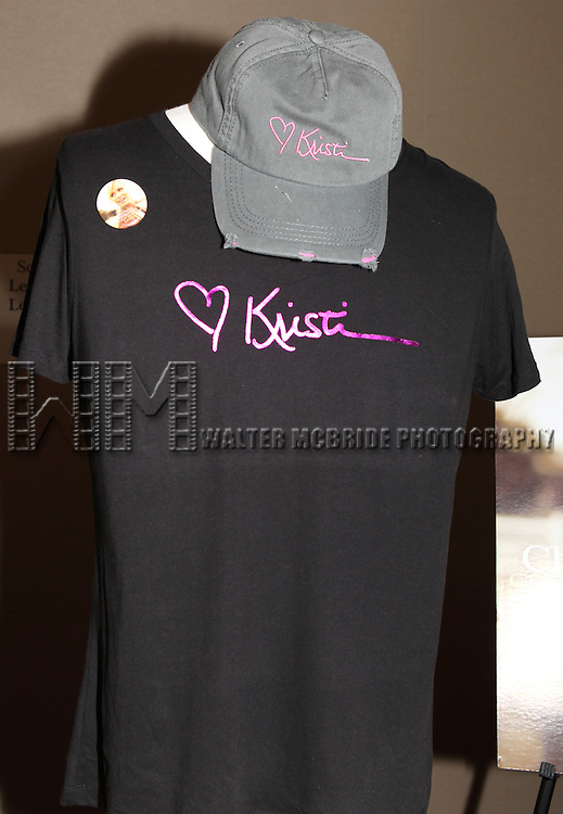 Merchandise at the after performance reception for.Kristin Chenoweth World Tour directed by Richard Jay Alexander at City Center in New York City on 6/02/2012