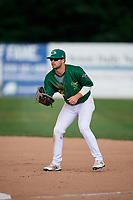 Beloit Snappers first baseman Jack Meggs (23) during a game against the Dayton Dragons on July 22, 2018 at Pohlman Field in Beloit, Wisconsin.  Dayton defeated Beloit 2-1.  (Mike Janes/Four Seam Images)