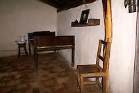 Bedroom in Casa Natal Ruben Dario, the house where Nicaraguan poet Ruben Dario was born, Ciudad Dario, Nicaragua