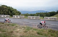 Thomas de Gendt (BEL/Lotto-Soudal) & Giulio Ciccone (ITA/Trek-Segafredo) riding ahead of the breakaway in the descent of the Grand Ballon<br /> <br /> Stage 6: Mulhouse to La Planche des Belles Filles (157km)<br /> 106th Tour de France 2019 (2.UWT)<br /> <br /> ©kramon