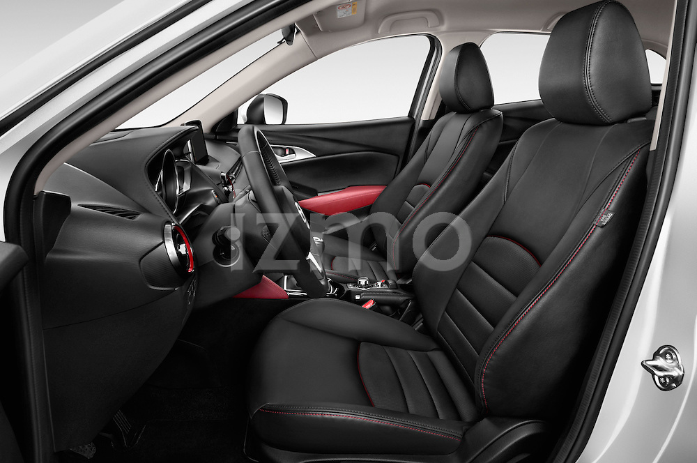 Front seat view of 2017 Mazda CX-3 Grand-Touring 5 Door SUV Front Seat  car photos