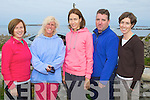 TRIATHLON: Competing in the 7 Frogs Triathlon in the Maharees on Saturday l-r: Teresa Richardson, Karen Weeks, Jackie Ruttledge, Naill O Loingsigh and Marie-Louise Sheehy.