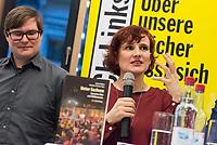 """Buchvorstellung """"Unter Sachsen - Zwischen Wut und Willkommen"""" in Berlin.<br /> Der Sammelband aus dem Christoph Links-Verlag zum Thema Rassismus und rechter Gewalt im Freistaat Sachsen, herausgegeben von der freien Journalistin Heike Kleffner und dem Tagesspiegel-Redakteur Matthias Meisner, wurde am Donnerstag den 30. Maerz 2017 in Berlin vorgestellt.<br /> Auf dem Podium diskutierten der saechsische Vize-Ministerpraesident Martin Dulig (SPD), der saechsische CDU-MdB Marco Wanderwitz, die Linken-Chefin Katja Kipping gemeinsam mit dem Verleger Christoph Link, den Herausgebern Heike Kleffner und Matthias Meisner sowie zwei der 40 Autoren - Michael Bittner und Imran Ayata - ueber das Buch.<br /> In dem Buch suchen die Herausgeber Antworten auf die Frage warum und wie es zu den """"saechsischen Verhaeltnissen"""" kommen konnte. Mit 477 offiziell dokumentierten  fremdenfeindlich motivierte Gewalttaten im Jahr 2015 liegt Sachsen, in Bezug auf die Einwohnerzahl, bundesweit an der Spitze.<br /> Die Landesvertretung des Freistaat Sachsen hatte es abgelehnt die Buchvorstellung in ihren Raeumen stattfinden zu lassen, so dass der Verlag den Sammelband vor ca. 250 Gaesten in der Landesvertretung Thueringen praesentierte.<br /> Im Bild vlnr.: Michael Bittner, Katja Kipping.<br /> 30.3.2017, Berlin<br /> Copyright: Christian-Ditsch.de<br /> [Inhaltsveraendernde Manipulation des Fotos nur nach ausdruecklicher Genehmigung des Fotografen. Vereinbarungen ueber Abtretung von Persoenlichkeitsrechten/Model Release der abgebildeten Person/Personen liegen nicht vor. NO MODEL RELEASE! Nur fuer Redaktionelle Zwecke. Don't publish without copyright Christian-Ditsch.de, Veroeffentlichung nur mit Fotografennennung, sowie gegen Honorar, MwSt. und Beleg. Konto: I N G - D i B a, IBAN DE58500105175400192269, BIC INGDDEFFXXX, Kontakt: post@christian-ditsch.de<br /> Bei der Bearbeitung der Dateiinformationen darf die Urheberkennzeichnung in den EXIF- und  IPTC-Daten nicht entfernt werden, diese sind in dig"""