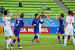 Mizuho Sakaguchi (JPN), <br /> SEPTEMBER 18, 2014 - Football / Soccer : <br /> Women's Group Stage <br /> between Japan Women's 12-0 Jordan Women's <br /> at Namdong Asiad Rugby Field <br /> during the 2014 Incheon Asian Games in Incheon, South Korea. <br /> (Photo by YUTAKA/AFLO SPORT)