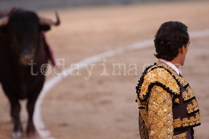 Leandro at the Bullfight Virgen de la Paloma festivity