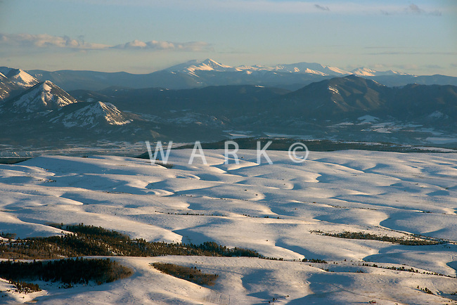 Wet Mountain Valley, south of Westcliffe, Colorado.  Looking south towards Mt. Blanca.  Feb 2013. 82514