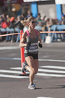 NEW YORK - NOVEMBER 7: Christa Iammarino of the USA approaches the 8 mile mark on 4th avenue in the 2010 New York City Marathon. Iammarino finished 39th in 2:49:55.