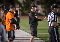 Doug Semones, head football coach. Occidental College's football game against Claremont-Mudd-Scripps on Homecoming weekend, Oct. 25, 2014. (Photo by Marc Campos, Occidental College Photographer)