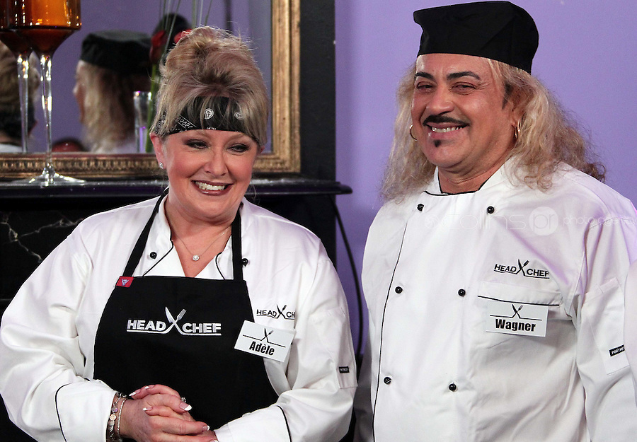 21/06/'11 Contestants in Celebrity Head Chef, from left, Adel King, and Wagner  in Chef Conrad Gallagher of TV3's Celebrity Head Chef series pictured in his  'Dining Room' Restaurant...NO REPRODUCTION FEE PIC...Picture Colin Keegan, Collins, Dublin.