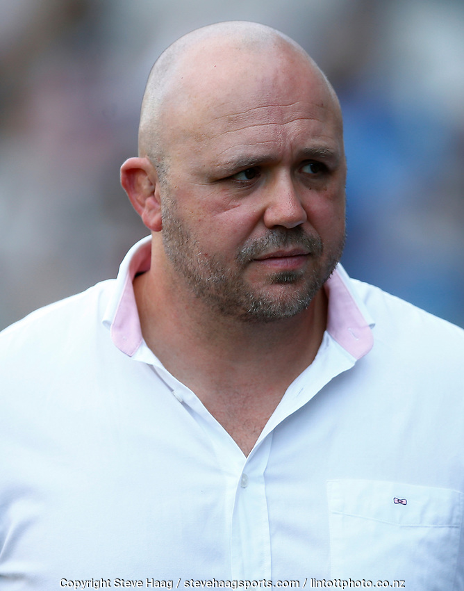DURBAN, SOUTH AFRICA - JUNE 01: Eduard Coetzee COO of the Management of the Cell C Sharks during the Super Rugby match between Cell C Sharks and Hurricanes at Jonsson Kings Park Stadium in Durban, South Africa on Saturday, 1 June 2019. Photo by Steve Haag / stevehaagsports.com