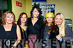 L-R Breda Quinn, Mandy Carroll, Mary B Cronin, Louise Dineen with Sonya Carroll from Educare, Kiskeam enjoying a nightout at Kingdom greyhound stadium, Tralee last Saturday.