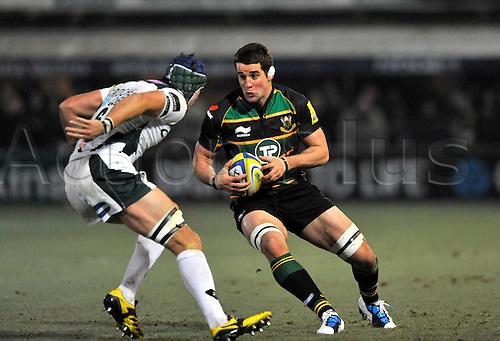 26.11.10. Calum Clark of Northampton Saints in action. Aviva Premiership Rugby Round 9 Northampton Saints vs London Irish at Franklin s Gardens, Northampton, England