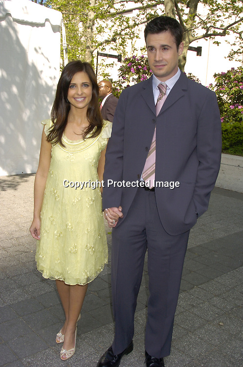 Sarah Michelle Gellar and husband Freddie Prinze, Jr ..at The ABC Upfront Announcement of Their Fall Schedule on May 17, 2005 at Lincoln Center...Photo by Robin Platzer, Twin Images
