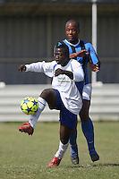 Inter Moore (blue/black) vs Stratford Juniors (white) - East London Sunday League Jubilee Cup Final at Wadham Lodge - 01/05/11 - MANDATORY CREDIT: Gavin Ellis/TGSPHOTO - Self billing applies where appropriate - Tel: 0845 094 6026