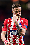 Saul Niguez Esclapez of Atletico de Madrid after the UEFA Europa League 2017-18 Round of 32 (2nd leg) match between Atletico de Madrid and FC Copenhague at Wanda Metropolitano  on February 22 2018 in Madrid, Spain. Photo by Diego Souto / Power Sport Images