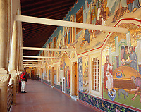 ZYPERN, Sued-Zypern, bei Pedoulas im Troodos-Gebirge: Kloster Kykkos, Gang mit Fresken und Mosaiken | CYPRUS, South-Cyprus, near Pedoulas at Troodos-Mountains: Kykkos Monastery - Mosaics (greek Orthodox) and Frescos