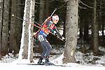 09/12/2016, Pokljuka - IBU Biathlon World Cup.<br /> Nicole Gontier competes at the sprint race in Pokljuka, Slovenia on 09/12/2016.