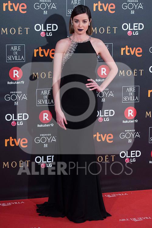 Dafne Fernandez attends red carpet of Goya Cinema Awards 2018 at Madrid Marriott Auditorium in Madrid , Spain. February 03, 2018. (ALTERPHOTOS/Borja B.Hojas)