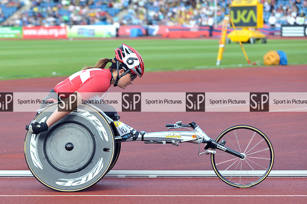 Andrea Von Buren (Switzerland).  Womens T54 - 1500 metres. Aviva London Grand Prix. Crystal Palace. London. 24/07/2009. Credit Sport in Pictures/Garry Bowden