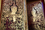 Temple door - Rural landscape in northern Thailand- Chiang Mai