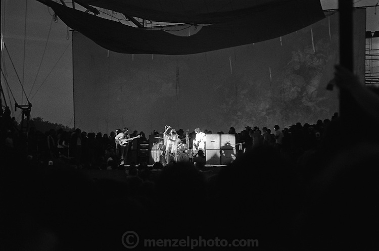 The Who performing at the at the Woodstock rock festival at Max Yasgur's 600 acre farm, in the rural town of Bethel, NY, on August 16, 1969..