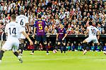 Arthur Melo of FC Barcelona (C) in action during their La Liga 2018-19 match between Valencia CF and FC Barcelona at Estadio de Mestalla on October 07 2018 in Valencia, Spain. Photo by Maria Jose Segovia Carmona / Power Sport Images