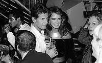 Calvin Klein Brooke Shields at Studio 54 1981<br /> Photo By Adam Scull/PHOTOlink.net