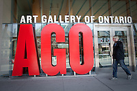 The Art Gallery of Ontario is seen in Toronto April 19, 2010. 10th largest art museum in North America, the Art Gallery of Ontario (AGO) (French: Musee des beaux-arts de l'Ontario) is an art museum with 45,000 square metres (480,000 sq ft) of physical space.