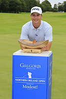 Calum Hill (SCO) wins the tournament by 1 shot at the end of Sunday's Final Round of the Northern Ireland Open 2018 presented by Modest Golf held at Galgorm Castle Golf Club, Ballymena, Northern Ireland. 19th August 2018.<br /> Picture: Eoin Clarke | Golffile<br /> <br /> <br /> All photos usage must carry mandatory copyright credit (&copy; Golffile | Eoin Clarke)