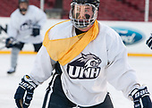 Jamie Hill (UNH - 8) - The University of New Hampshire Wildcats practiced at Fenway on Friday, January 13, 2017, in Boston, Massachusetts.