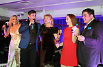 Judy McLane, Sean McDermott, Missy Keene, Scarlett, Dale Badway perform at New Years Eve 2018  celebration at the Copacabana, New York City on December 31, 2017 hosted by Dale Badway (Photo by Sue Coflin/Max Photo)
