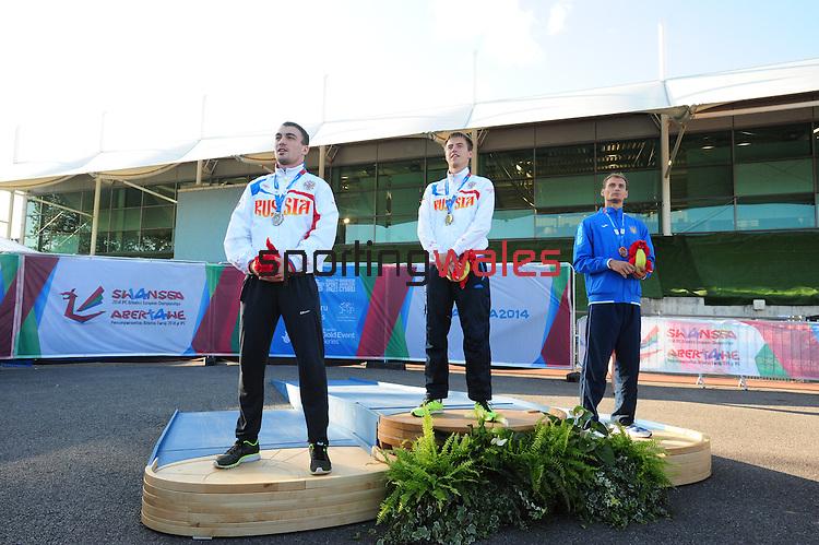 IPC European Athletics Championship 2014<br /> Swansea University<br /> <br /> Medal ceremony: Men's 400m T37.<br /> <br /> 22.08.14<br /> Chris Vaughan-SPORTINGWALES