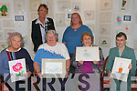 ART EXHIBITION: Residents of Our Lady of Fatima Home who their Art Exhibition on Saturday seated l-r: Kitty Sherry, Anne Gabriel, Maureen Griffin and Eileen Ryall. Back l-r: Mary Curtin (Director of Nursing) and Karen Maunsell (Art Instructor)..   Copyright Kerry's Eye 2008