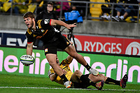 Chiefs&rsquo; Alex Nankivell in action during the Super Rugby - Hurricanes v Chiefs at Westpac Stadium, Wellington, New Zealand on Saturday  27 April 2019. <br /> Photo by Masanori Udagawa. <br /> www.photowellington.photoshelter.com