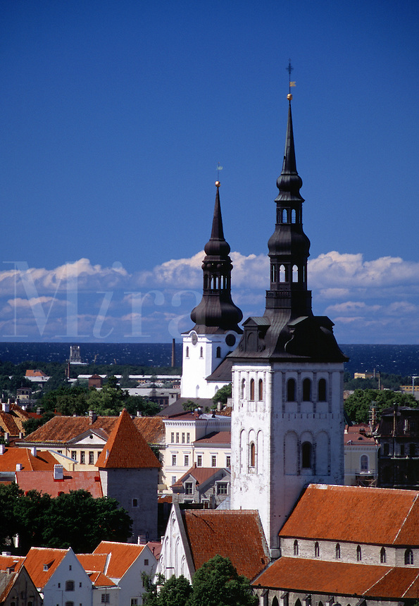 Old Town skyline Tallinn Estonia.