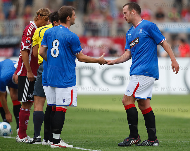 Kevin Thomson comes on for Charlie Adam