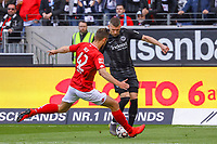 Ante Rebic (Eintracht Frankfurt) gegen Alexander Hack (1. FSV Mainz 05) - 12.05.2019: Eintracht Frankfurt vs. 1. FSV Mainz 05, 33. Spieltag Bundesliga, Commerzbank Arena, DISCLAIMER: DFL regulations prohibit any use of photographs as image sequences and/or quasi-video.