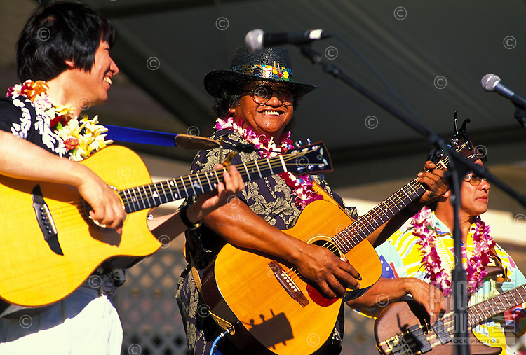 Local and visiting musicians perform at a concert at the Alexander & Baldwin Amphitheater at the Maui Arts and Cultural Center in Kahului.