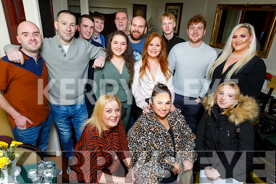 The staff of Woodies in Manor enjoying their night out in the Brogue Inn on Saturday night.<br /> Seated l to r: Josephine Pattwell, Hannah Dobbin and Shannon Lawlor.<br /> Back l to r: Rachel O'Connor, Gillian Conway, Louise O'Sullivan, John Hardy, Pierce Owens, Paul O'Sullivan, Fergus Pulman, Gearoid Sheehan, Edward O'Connor, Gavin Relihan and Shane Molloy.