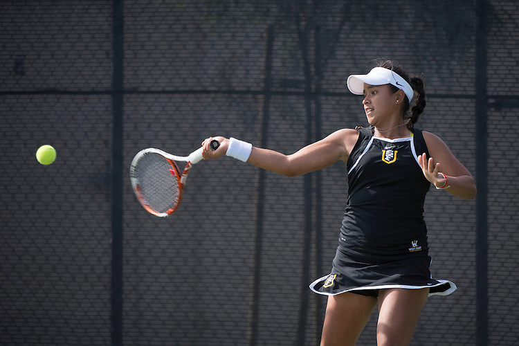 April 23, 2014; San Diego, CA, USA; San Francisco Dons player Andrea Ka during the WCC Tennis Championships at Barnes Tennis Center.