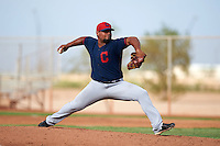 Cleveland Indians pitcher Yoiber Marquina (36) during an instructional league game against the Los Angeles Dodgers on October 15, 2015 at the Goodyear Ballpark Complex in Goodyear, Arizona.  (Mike Janes/Four Seam Images)