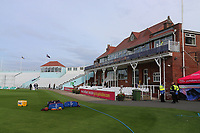 General view of the ground looking towards the pavilion ahead of Yorkshire CCC vs Essex CCC, Specsavers County Championship Division 1 Cricket at Scarborough CC, North Marine Road on 6th August 2017