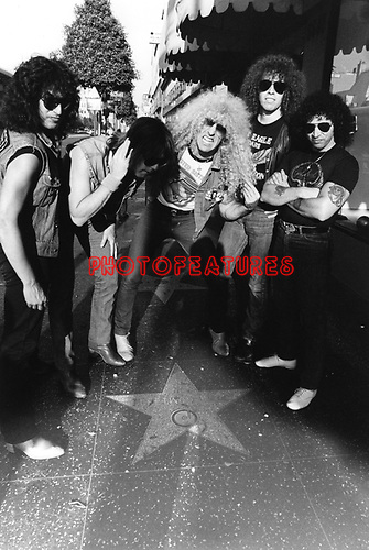 Twisted Sister 1983 on Hollywood Walk of Fame with Fleetwood Mac star.