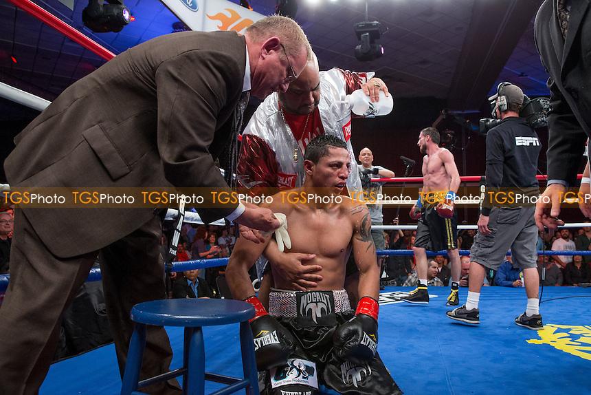 Jonathan Maicelo vs Rustam Nugaev in a lightweight boxing contest - ESPN Friday Night Fights at the Chumash Casino Resort & Spa in Santa Ynez, California - 05/04/13 - Dwight McCann/TGSPHOTO - Self billing applies where appropriate - 0845 094 6026 - contact@tgsphoto.co.uk - NO UNPAID USE.
