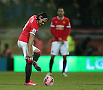 Manchester United's Radamel Falcao looks on dejected<br /> <br /> FA Cup - Preston North End vs Manchester United  - Deepdale - England - 16th February 2015 - Picture David Klein/Sportimage